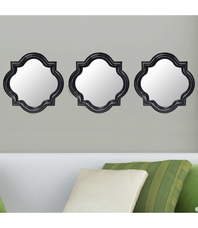 Lauren Taylor 3 Piece Decorative Mirror Set