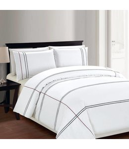 Lauren Taylor Cedano 3 PC Embroidered Duvet Cover Set