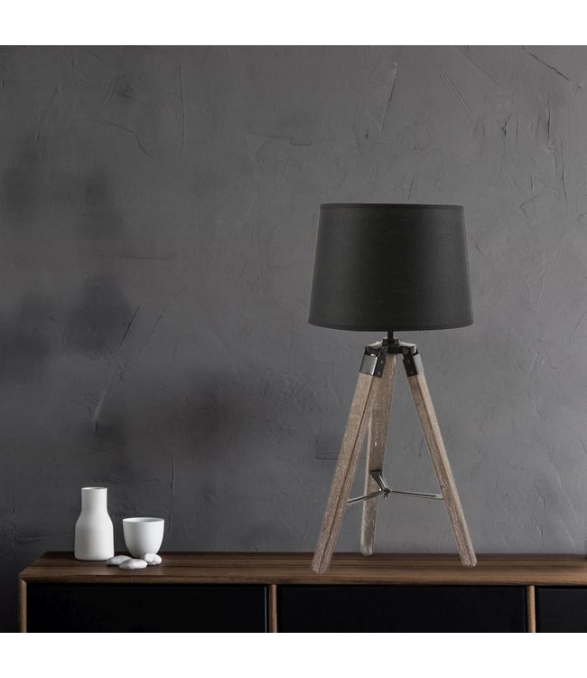Sandra venditti tripod table lamp includes shade and wooden base sandra venditti tripod table lamp includes shade and wooden base aloadofball Images