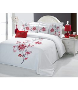 Sandra Venditti Bella 6 piece Comforter Set - Red