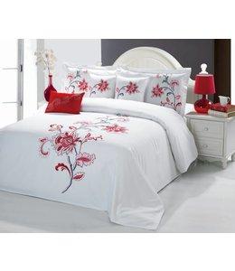 Sandra Venditti Bella 6 piece Comforter Set - Red