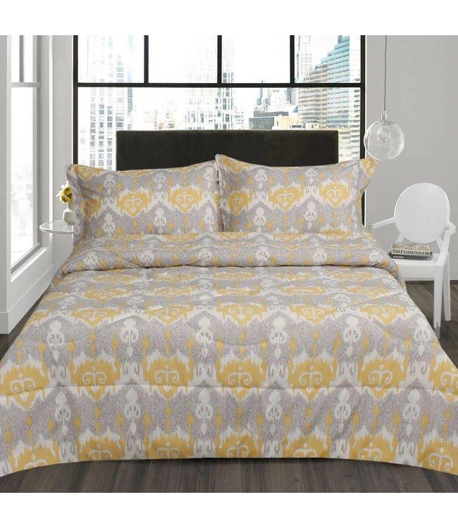 Lauren Taylor Odda 3 Piece Micro-Fiber Comforter Set