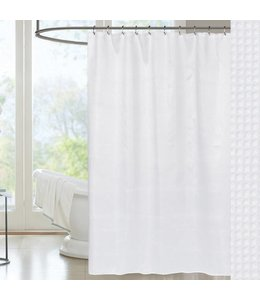 W-Home Cotton Waffle Spa Shower Curtain
