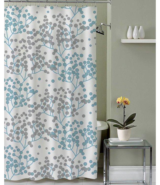 Lauren Taylor Adela Micro-Fiber Shower Curtain