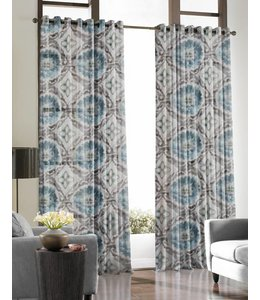 Lauren Taylor Aaliyah Floral Grommet Window Panels