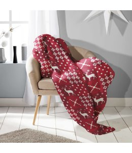 Lauren Taylor Christmas Printed Flannel Blanket