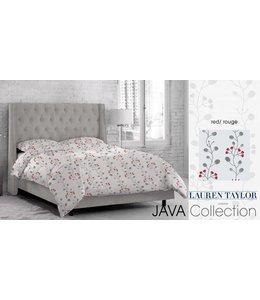 Lauren Taylor Java Micro-Fiber Printed Comforter Set