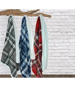 Lauren Taylor Lucas Plaid Sherpa to Microfleece Throw