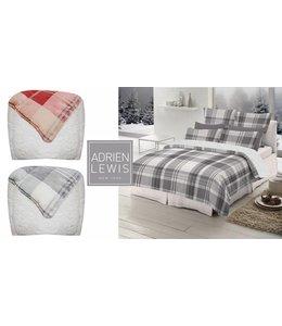 Adrien Lewis Woodland Plaid Micro Mink Faux Fur Comforter Set
