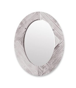 Adrien Lewis Oval Wood Framed Mirror