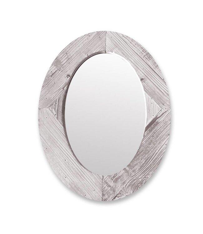 Lauren Taylor Oval Wood Framed Mirror