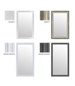 Lauren Taylor Grey Wood Framed Mirror