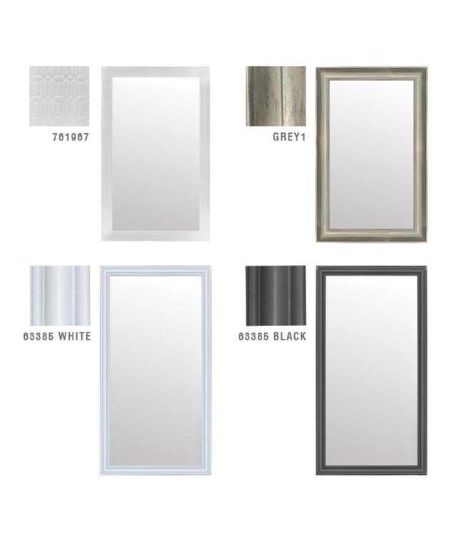 Lauren Taylor White Wood Framed Mirror