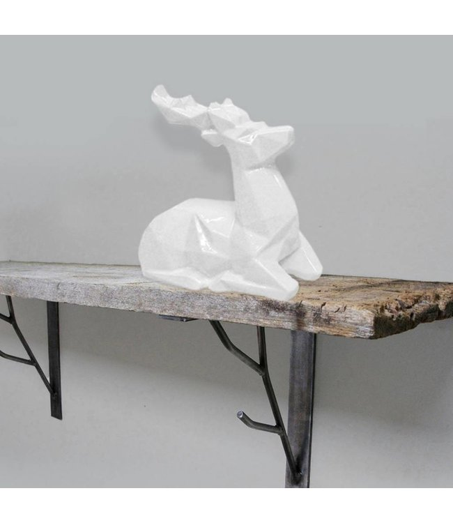 Lauren Taylor Cozy Cabin Ceramic Deer Figurine