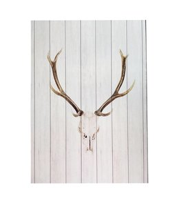 White Wood Deer Wall Decor