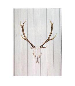 White Wood Deer Wall Decor