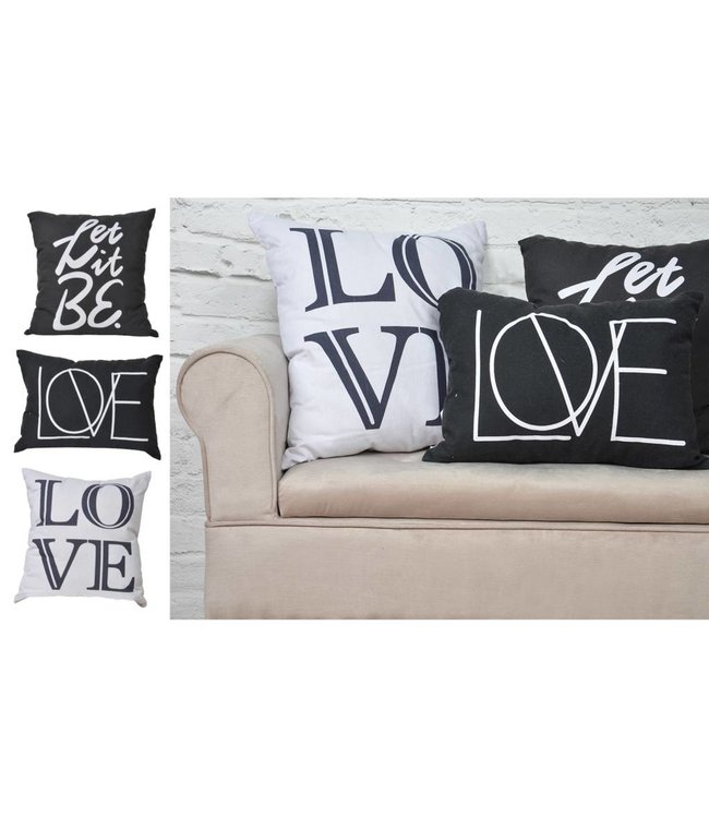 "Adrien Lewis Charcoal ""Let It Be"" Cushion"