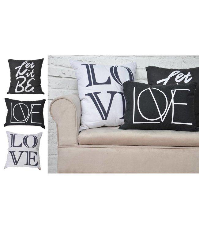 "Adrien Lewis Charcoal ""Let It Be"" Cushion"