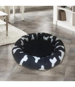 Adrien Lewis 18 Inch Round Black and White Pet Bed