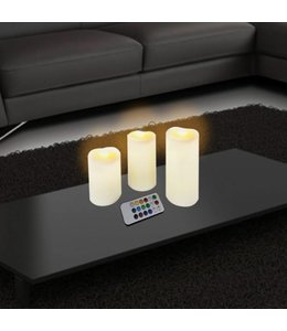 Studio 707 3 Piece LED Candle Set