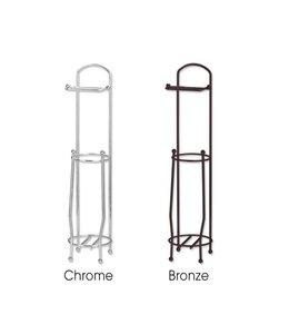 Sandra Venditti Bronze Standing Toilet Paper Holder & Roll Reserve
