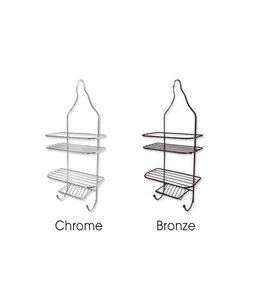 Sandra Venditti Chrome Shower Caddy