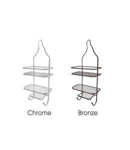 Sandra Venditti Chrome Shower Caddy