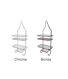 Sandra Venditti Bronze Finish Shower Caddy