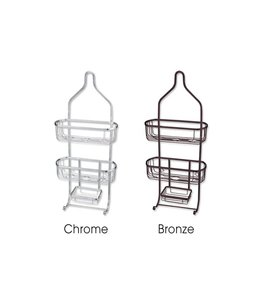 Sandra Venditti Jumbo Chrome Shower Caddy