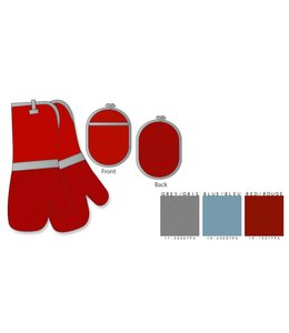 Adrien Lewis 3 Piece Siliconized Cotton Oven Mitt Set