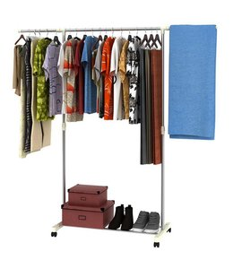 Lauren Taylor Adjustable Garment Rack with Shoe Stand
