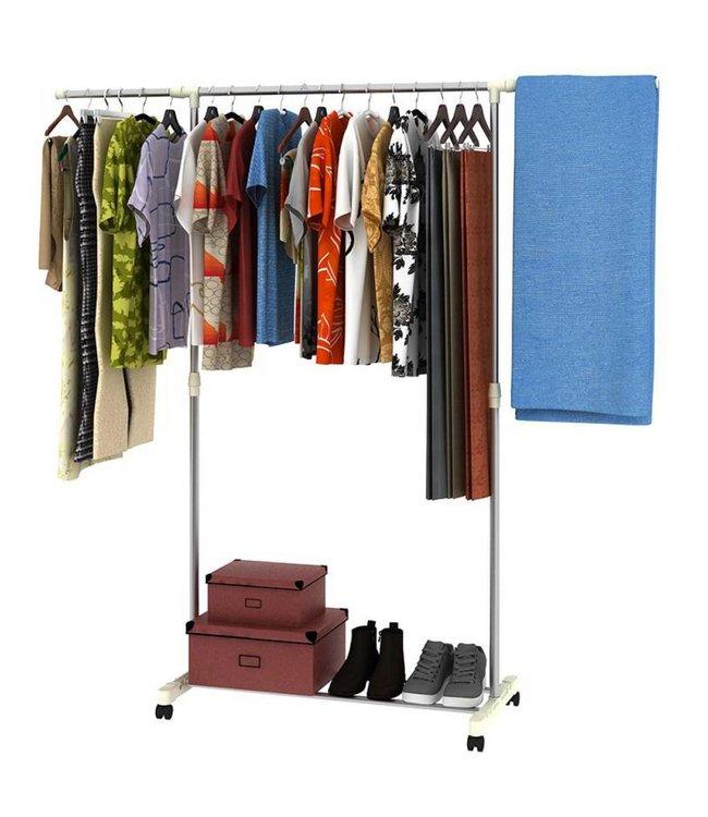 Lauren Taylor Adjustable Garment Rack with Shoe Stand