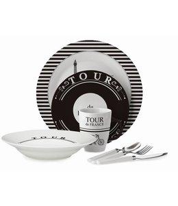 Adrien Lewis 16 Piece Tour De France Dinnerware Set