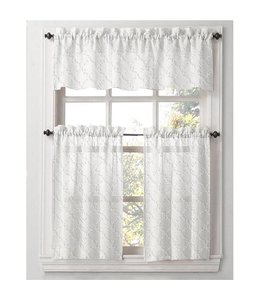 Lauren Taylor 3 PC Kitchen WIndow Panel Set