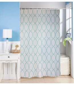 Studio 707 Matheo Microfiber Shower Curtain and Hook Set