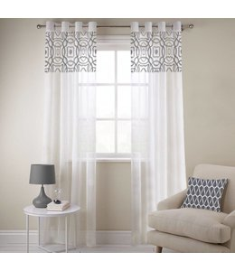 "Lauren Taylor ""Alison"" Embroidered Sheer Window Panels"