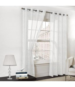 "Lauren Taylor ""Alexa"" Grommet Top Sheer Window Panels"