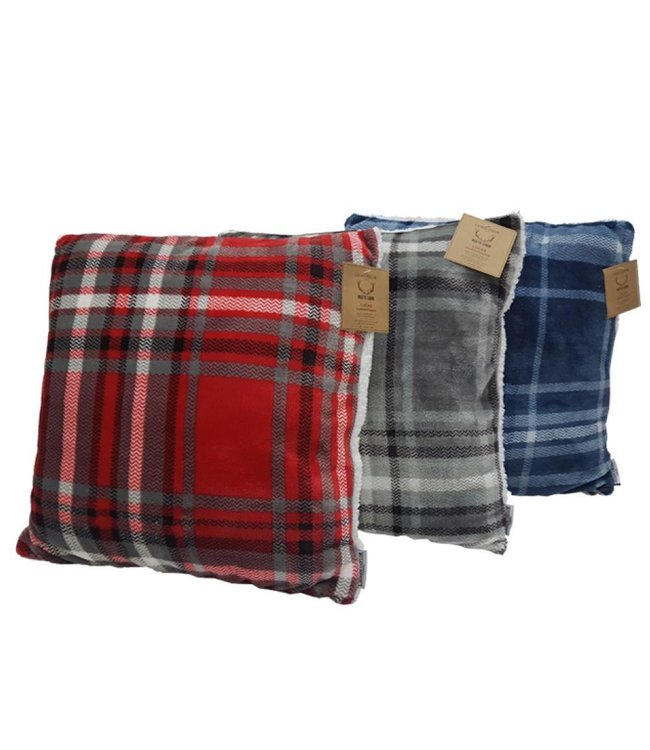 Lauren Taylor LUCAS PLAID SUPER SOFT SHERPA CUSHION 18 X 18 (MP6)