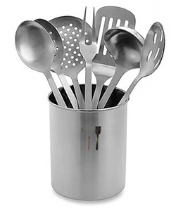 A. La. Cuisine 7 Pc Stainless Steel Kitchen Utensil Sets