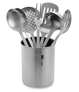 A. La. Cuisine 7 Pc Stainless Steel Kitchen Utensil Sets