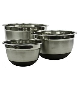 A. La. Cuisine 3 PC Stainless Steel & Anti Skid Mixing Bowl Set