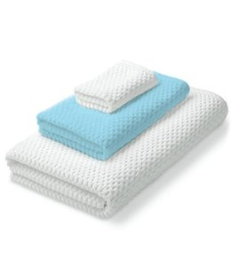 W-Home 100% Cotton Waffle Terry Towels