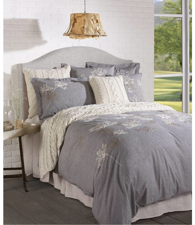 "Brunelli ""Quinoa"" Embroidered Cotton Duvet Cover Set"