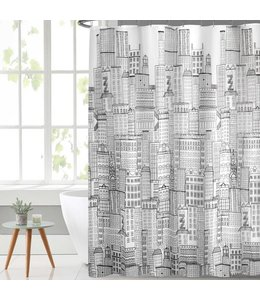 14PC PEVA PRINTED SHOWER CURTAIN SET (MP12)