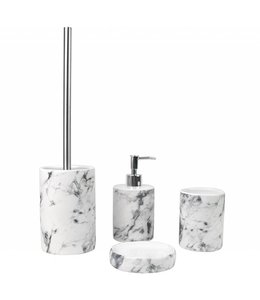 Lauren Taylor Marble Ceramic 3 pc Bath Accessory Set