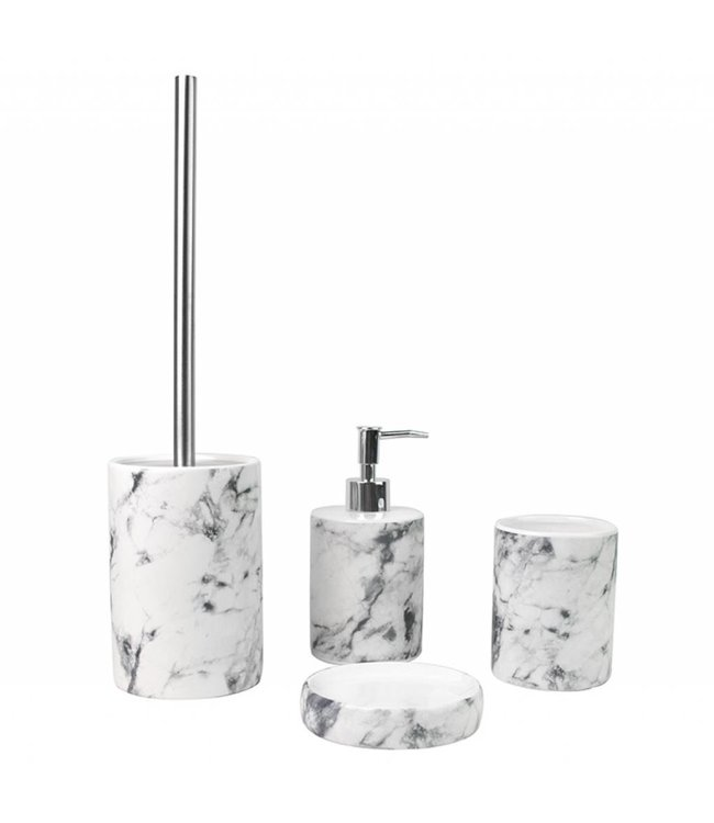 Lauren Taylor Marble Ceramic 3 pc Bath Accessory Set