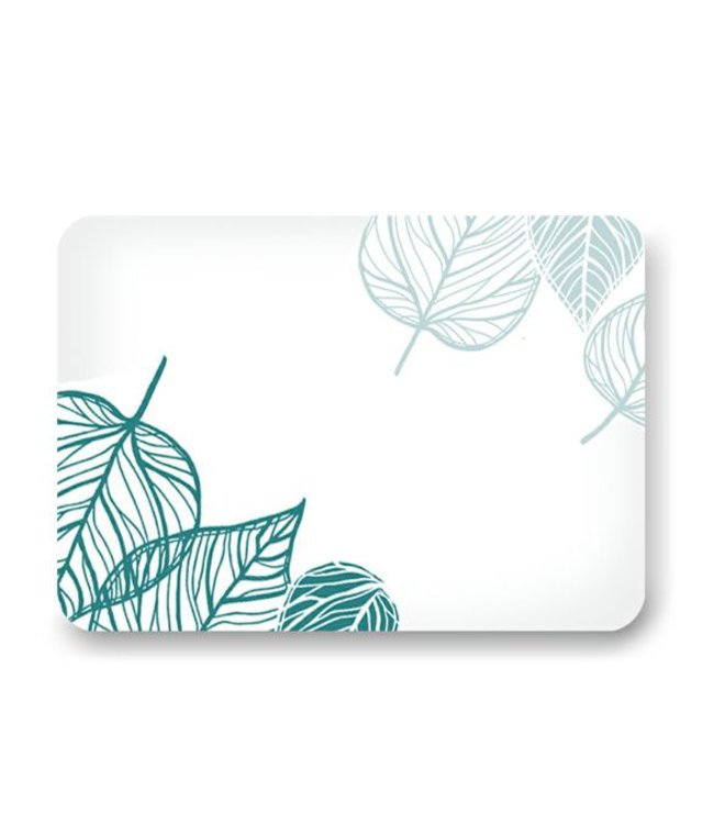 Lauren Taylor TROPICS PRINTED MEMORY FOAM BATH MAT GREEN (MP12)
