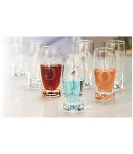 Sandra Venditti 8 Pack Numbered Four Ounce Liqueur Glasses
