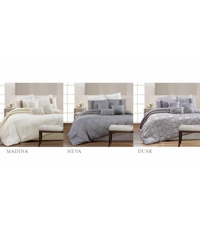 Lauren Taylor 7 Piece Jacquard Comforter Sets - Queen