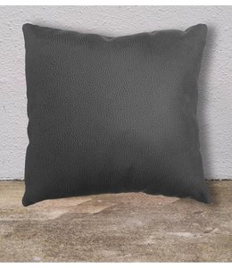 Lauren Taylor 17 by 17 Inch Faux Leather Fiber Fill Cushions